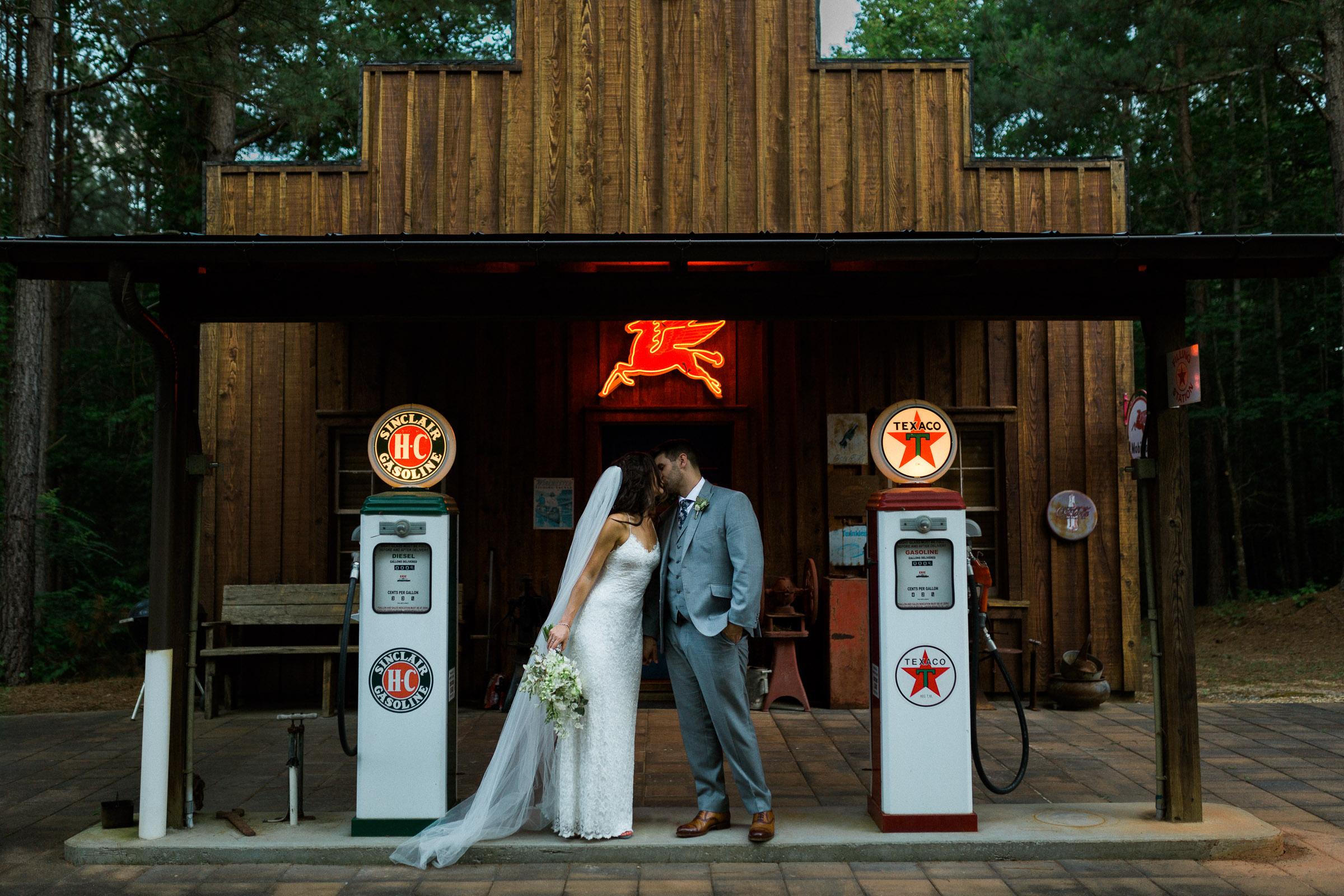 Creative Wedding Portrait Outdoors